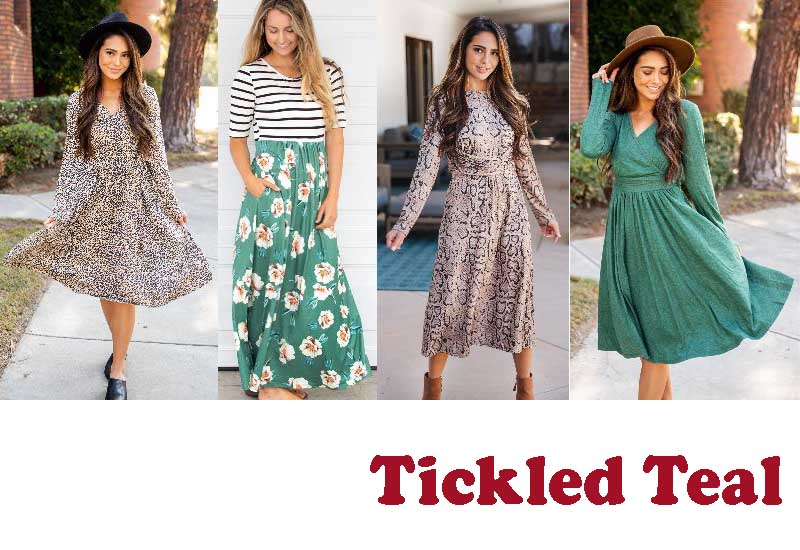 16 Best Selling Dresses from Tickled Teal