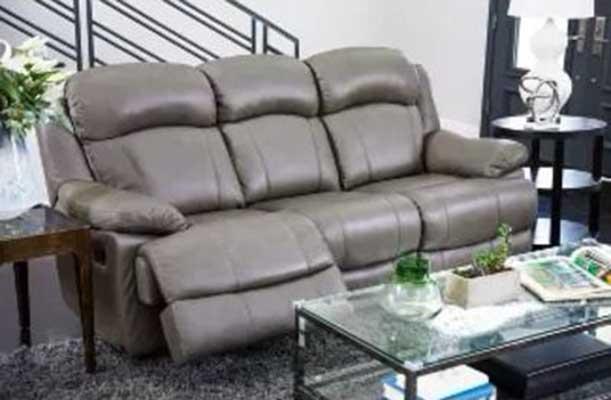 Friedman Top Grain Leather Reclining Sofa Gray - Abbyson Living