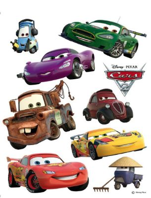 Giant Cars Lightning McQueen and Martin stickers
