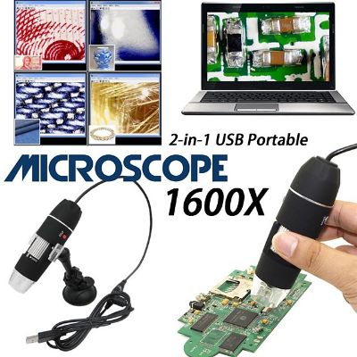 1600X USB Digital Microscope Camera Endoscope 8LED Magnifier with plastic Stand