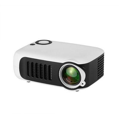 A2000 Mini Portable Digital Projector Home Use 720P High Definition Projector white_EU Plug