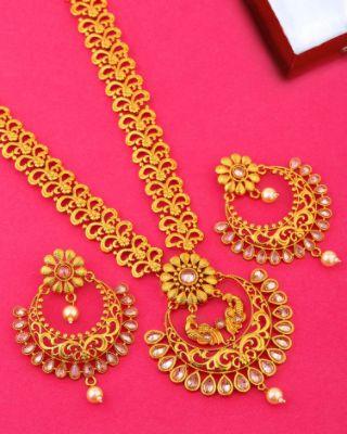 CZ Gems Adorned Floral Necklace Set