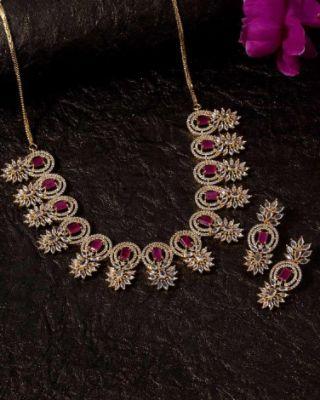 CZ Gems Adorned Necklace Set