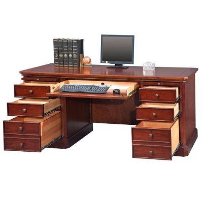 """Canyon Ridge Double Pedestal Desk - 68""""W"""