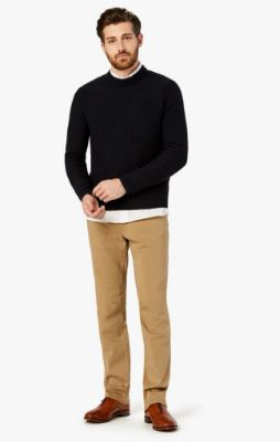 Charisma Relaxed Straight Pants In Khaki Twill