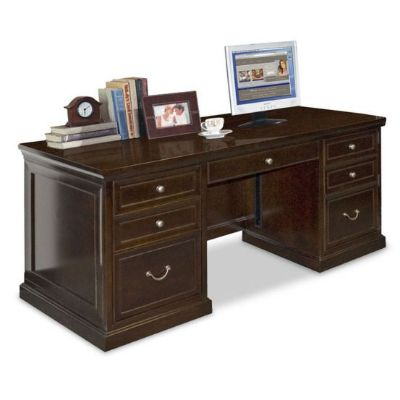 "Fulton Double Pedestal Executive Desk - 68""W x 32""D x 30""H"
