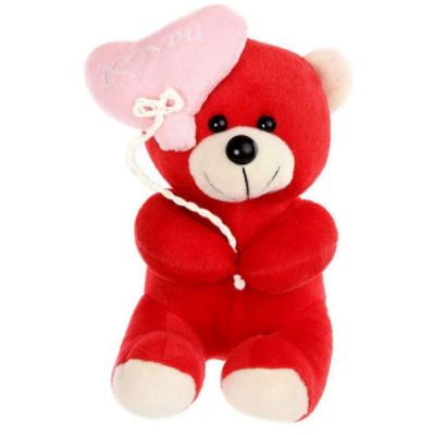 I Love You Balloon Teddy Bear- Red