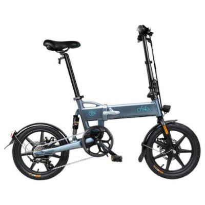 FIIDO D2S Folding Moped Electric Bike Gear Shifting Version City Bike Commuter Bike 16-inch Tires 250W Motor Max 25km/h SHIMANO 6 Speeds Shift 7.8Ah Battery - Dark Gray