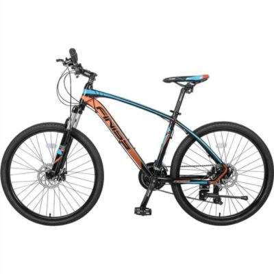 Finiss 26 Inch Bike SHIMANO 24-speed Shift Stable Foot Placement Suspension Forks and Disk Brakes - Orange/Blue