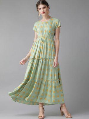 Green Viscose Maxi Dress