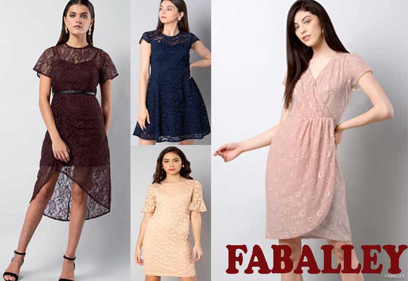 7 Best Party Wear Lace Dresses from FABALLEY
