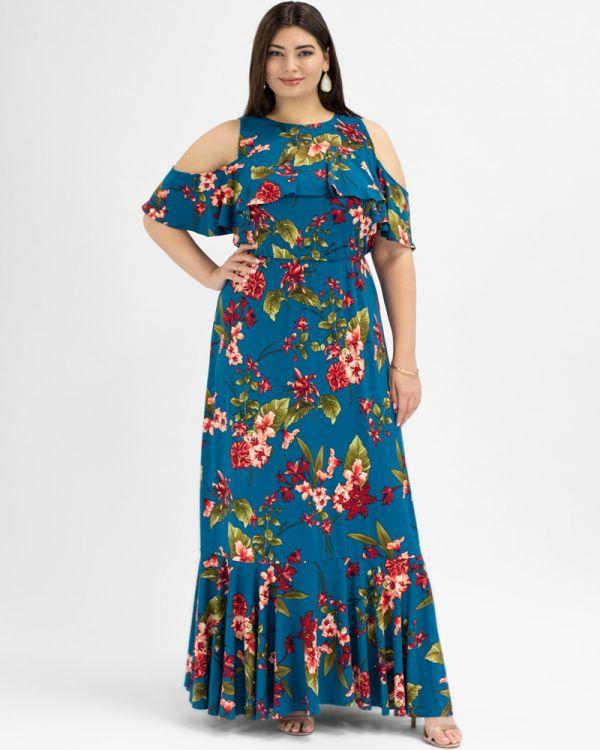 Piper Cold Shoulder Maxi Dress