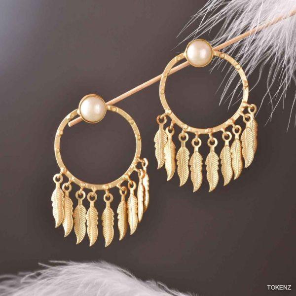 Stylish Golden Hoops