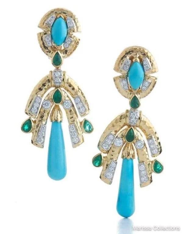 DAVID WEBB - Golden Drape Earrings