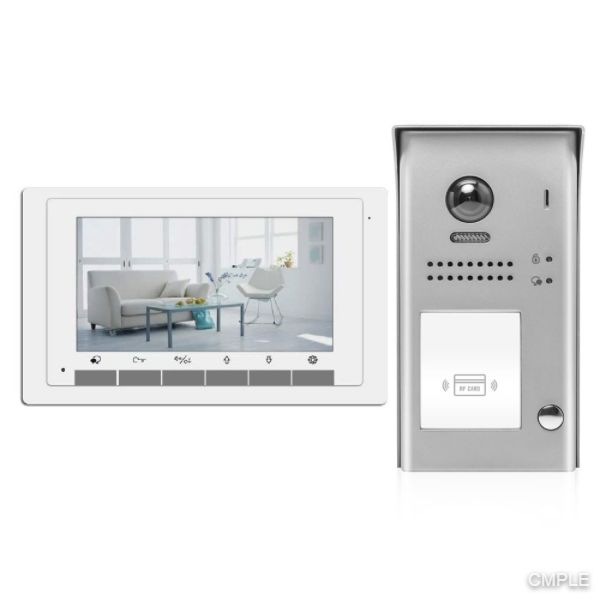 Video Intercom Entry System DK1711S - 1 Apartment Audio/Video Kit with 1 Inside Monitors