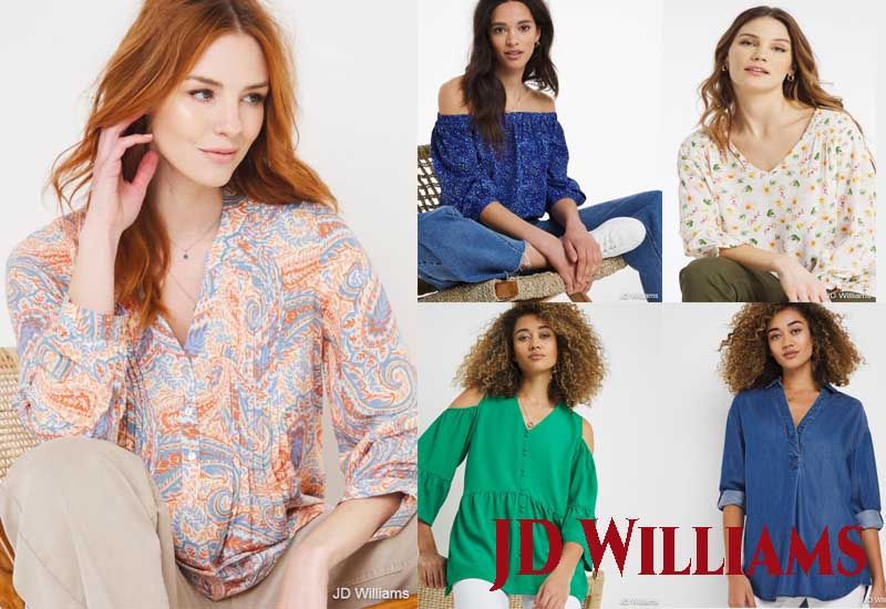 12 Best Selling Blouses from JD Williams