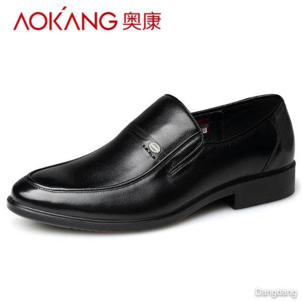 Aokang men's shoes business dress shoes men's low-top foot genuine cowhide shoes