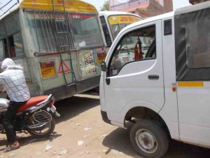 राठ तिगैला में लगो जाम