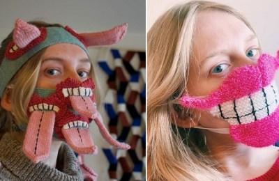 Icelandic designer, scary' masks, social distancing