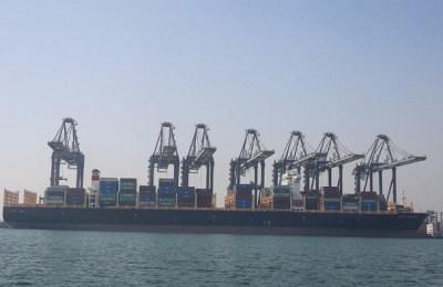 Karachi port, cargo