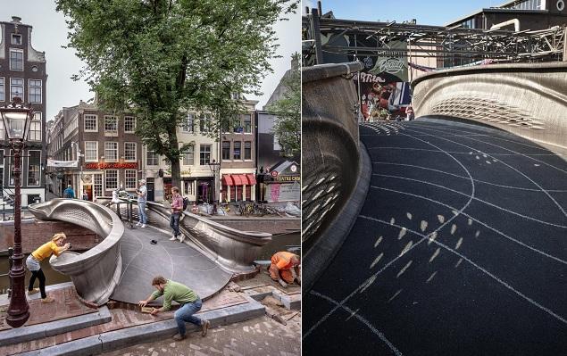 3D-printed bridge, Amsterdam