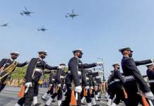 Republic Day parade begins with Bangladesh contingent, 2 women pilots, Rafael, Ladakh tableau