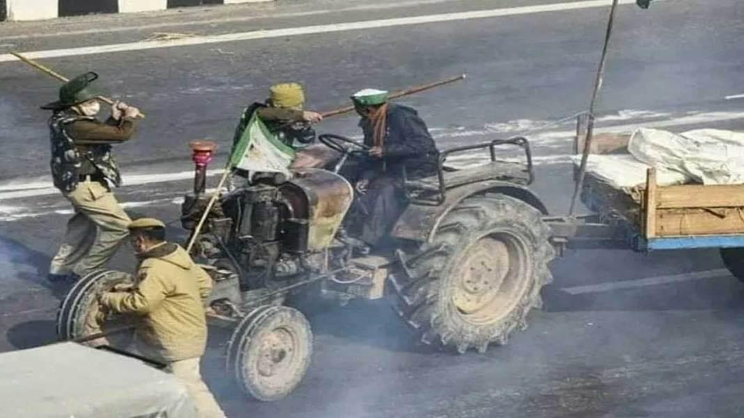 violent tractor parade