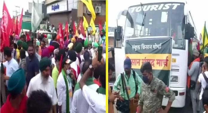 farmers protest at delhi