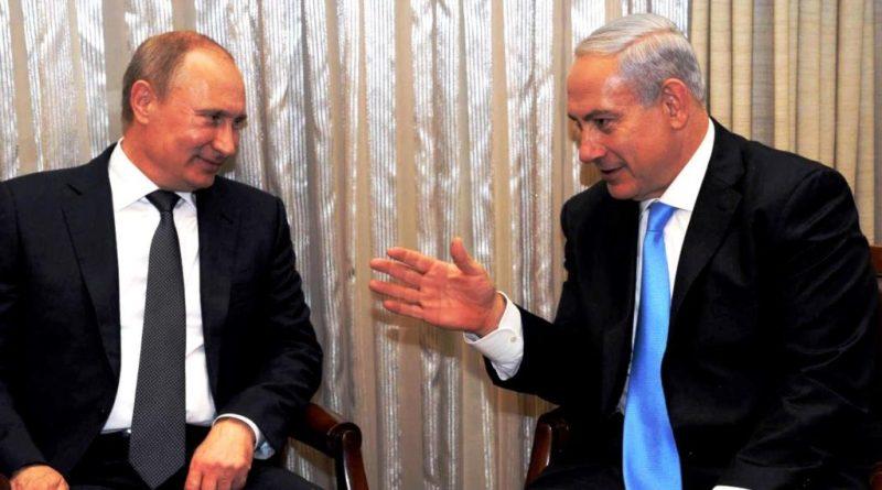 الرئيس الروسي فلاديمير بوتين مع رئيس وزراء الاحتلال الاسرائيلي بنيامين نتنياهو