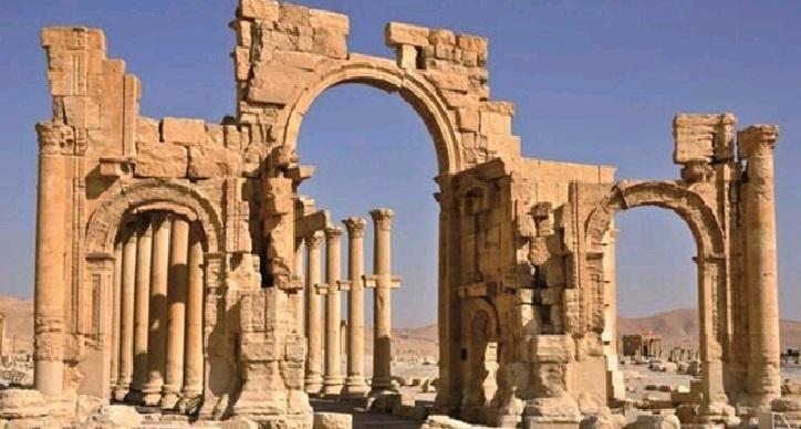 تدمر الأثرية تدخل طور الترميم والخبراء الروس يوضحون المراحل