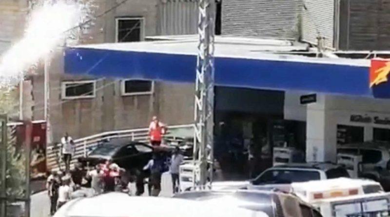 إطلاق للنار عند محطة المحروقات في لبنان بعد إشكال .. بالفيديو