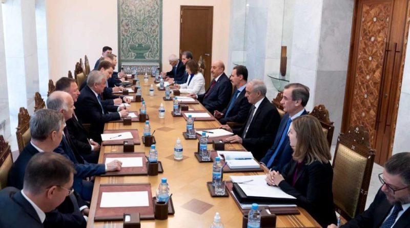 الرئيس الأسد يستقبل مبعوث الرئيس الروسي في دمشق