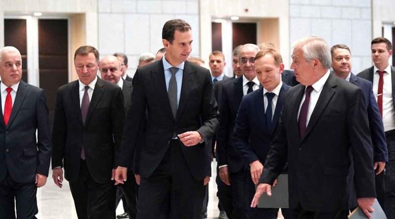 الرئيس الأسد يستقبل وفد روسي برئاسة لافرنتييف لبحث عودة اللاجئين السوريين