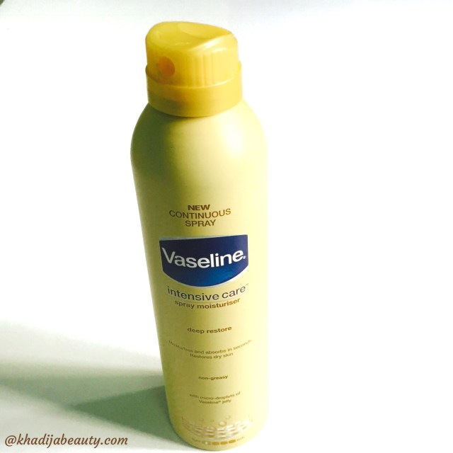 vaseline intensive care spray moisturiser review, comparison of spray moisturiser with lotion (3)