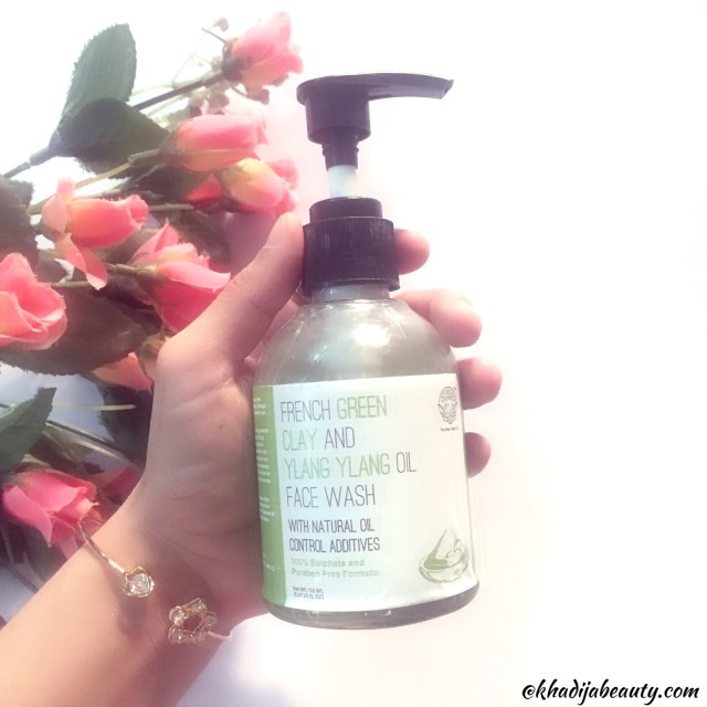 Greenberry organics face wash, khadija beauty,greenberry oranics french green clay and ylang yalng oil face wash
