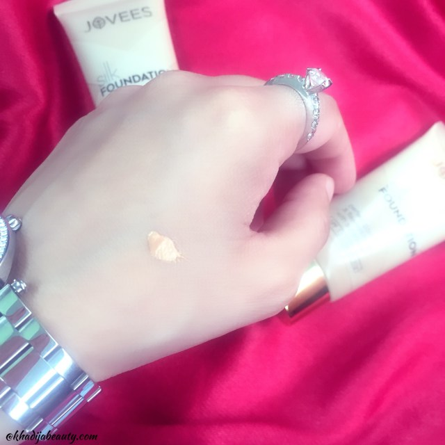 jovees silk foundation review, khadija beauty