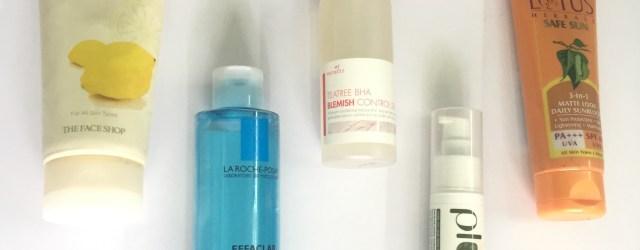 Morning skincare routine for oily skin, morning skincare routine for acne-prone skin, khadija beauty