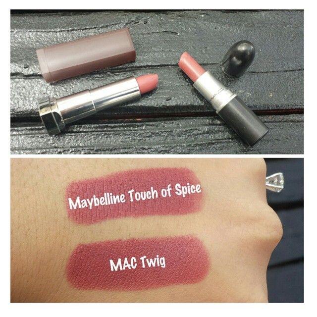 Affordable Mac lipstick dupes, twig dupes, khadija beauty