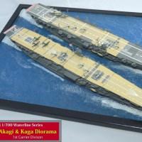 1/700 IJN Aircraft Carrier Akagi & Kaga Diorama