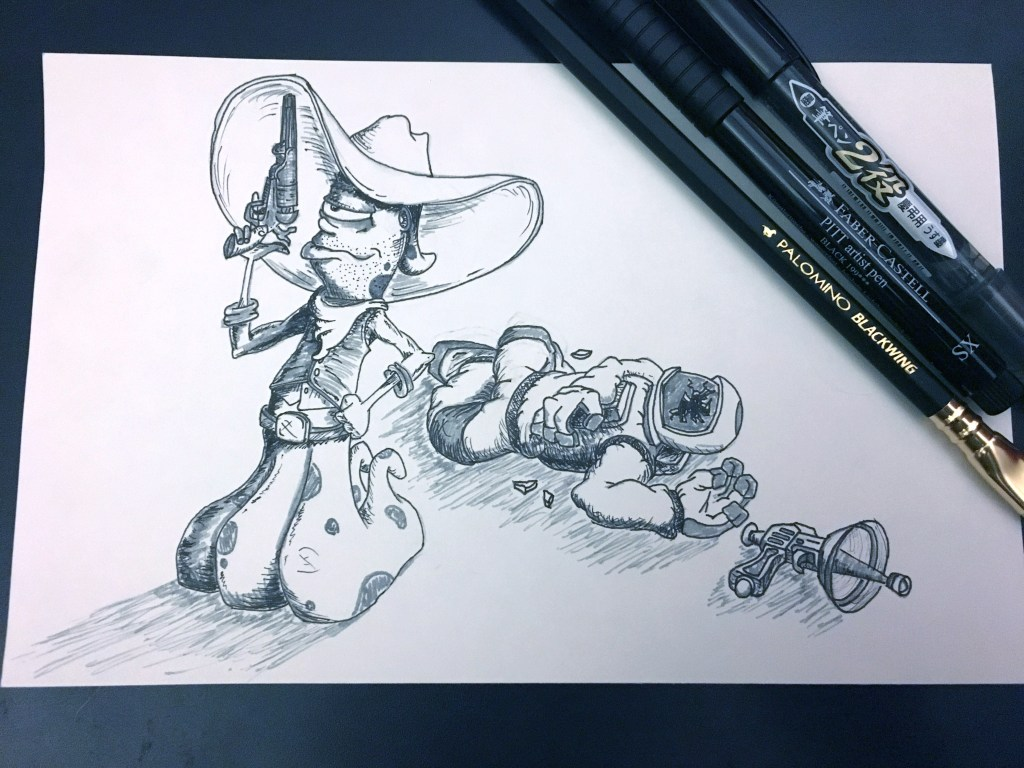 Inktober – Wild Outer West