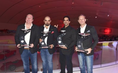 Khaled Al Mudhaf and team awarded at Ferrari 2014 GT Awards at the Enzo Ferrari Museum in Modena
