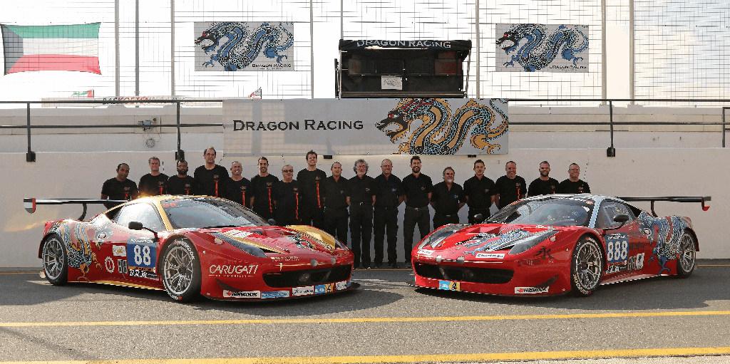 Dubai 24H 2016 Dragon Racing Ferrari458 GT3 75