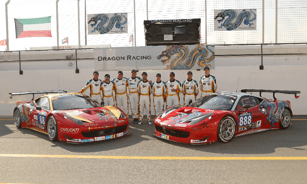 Dubai 24H 2016 Dragon Racing Ferrari458 GT3 77