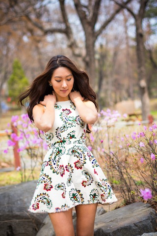 Whimsy Floral Printed Dress