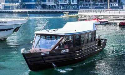 Air-conditioned Abras replacing Water Buses in Dubai Marina