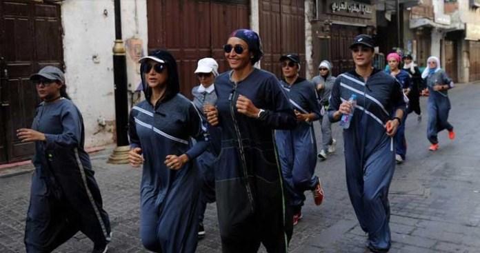 Saudi Women Embraces Sports Abayas