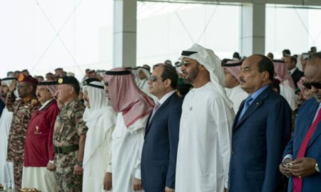 UAE VP, Abu Dhabi Crown Prince, Arab leaders attend Joint Gulf Shield I drill