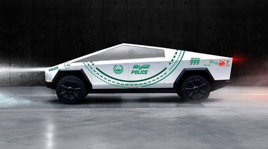 Tesla CyberTruck A new addition to Dubai Police Fleet