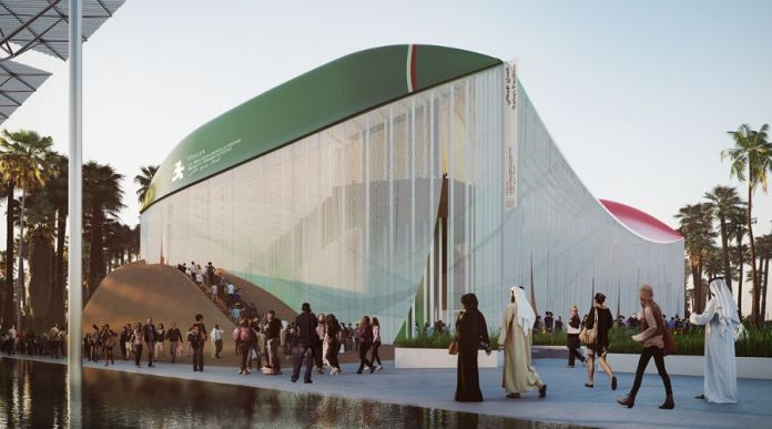 Inside of Italy Pavilion for Expo 2020 Beauty Connects People