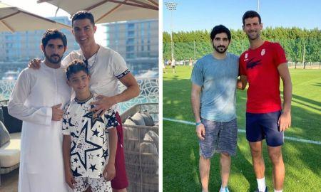 Ronaldo and Djokovic meets Sheikh Hamdan Dubai